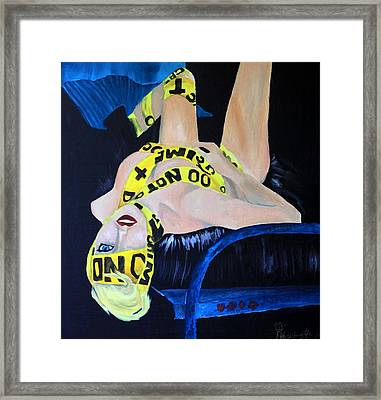 Lady Gaga Telephone Framed Print by Robert Hodgson
