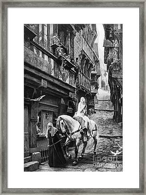 Lady Godiva, 11th Century Framed Print by Granger