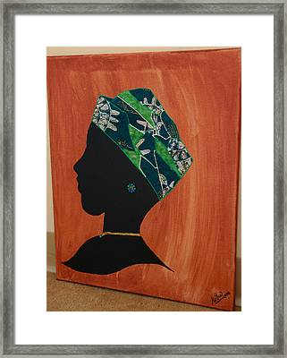 lady Green Framed Print by Kayon Cox