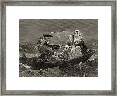 Lady Harriet Ackland On Way To Visit Framed Print by Vintage Design Pics