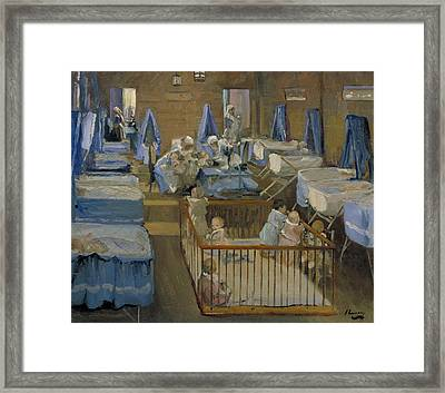 Lady Henry's Creche - Woolwich Framed Print