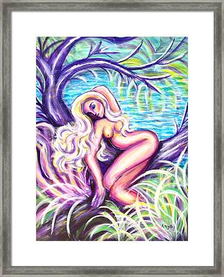 Lady In A Tree Framed Print