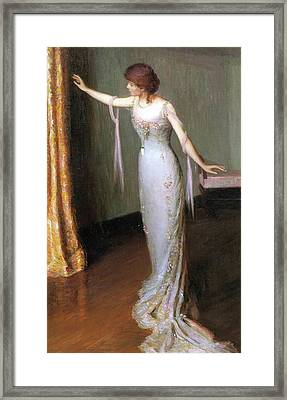 Lady In An Evening Dress Framed Print by Cabot Perry