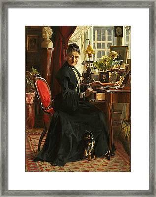 Lady In Black Framed Print
