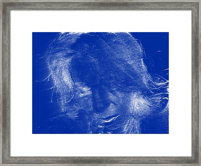 Framed Print featuring the photograph Lady In Blue by Kicking Bear  Productions