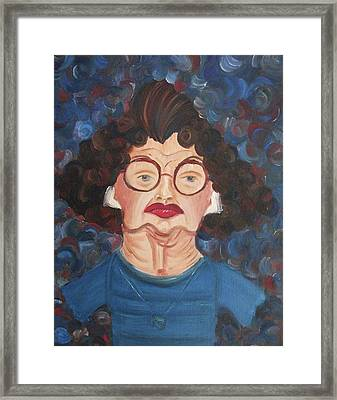 Lady In Blue Framed Print by Suzanne  Marie Leclair