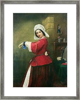 Lady In French Costume Framed Print by Edmund Harris Harden