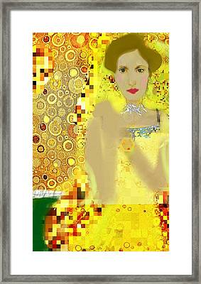 Lady In Gold Whimsy  Framed Print by ARTography by Pamela Smale Williams
