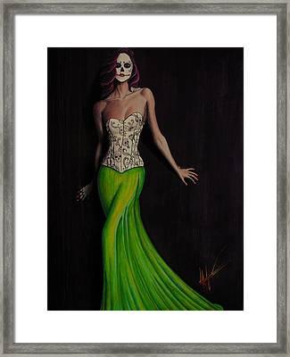 Lady In Green Framed Print by Aaron  Montoya