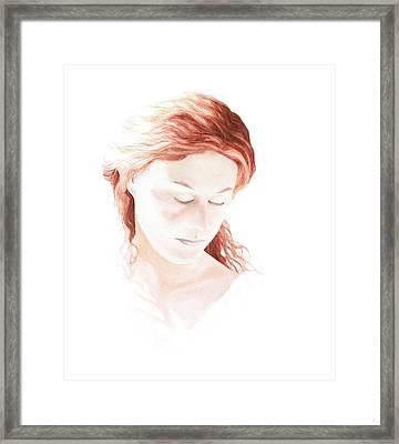 Lady In Light Framed Print