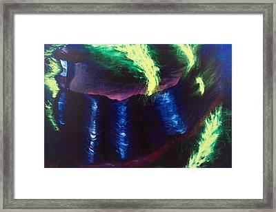Lady In Lights Framed Print by Mariia Malygina