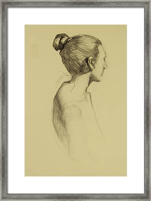 Lady In Profile Framed Print by Susan Fowler