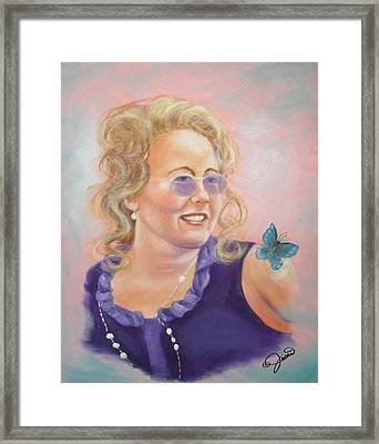 Lady In Purple Framed Print by Joni McPherson