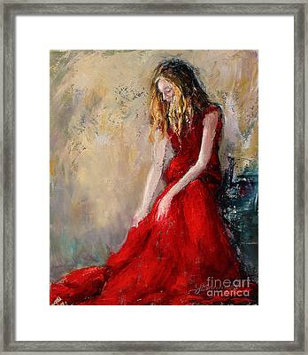 Lady In Red 2 Framed Print by Jennifer Beaudet