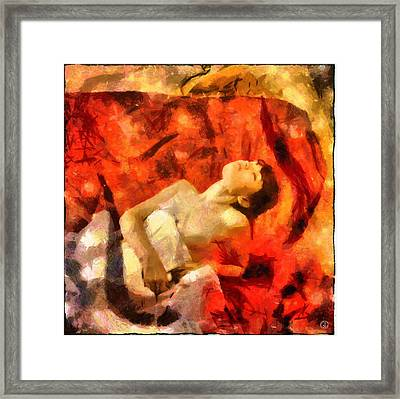 Framed Print featuring the digital art Lady In Red by Gun Legler