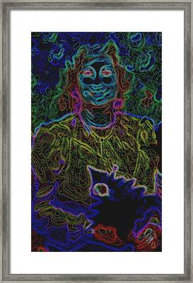Lady In Smiles Framed Print by Kicking Bear  Productions