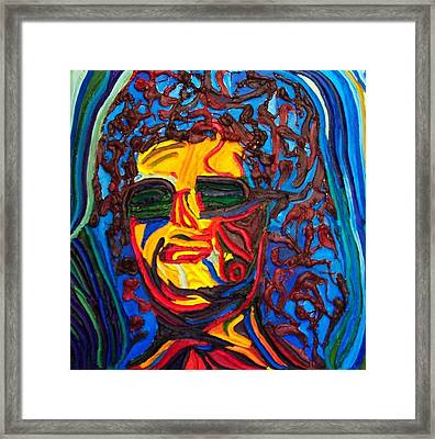 Lady In Sunglasses Framed Print by Ira Stark