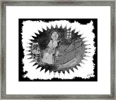Lady In The Attic Framed Print by Elva Kimble