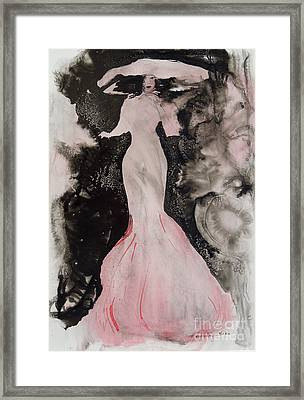 Lady In The Pink Hat Framed Print by Mary Haley-Rocks