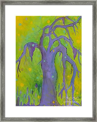 Lady In The Tree Framed Print