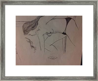 Lady In Thoughts Framed Print by Mmushi Given Ditodi