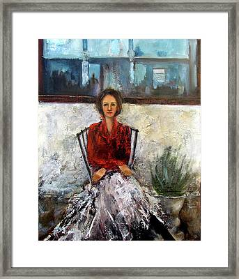 Lady In Waiting Framed Print by Mary St Peter