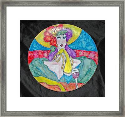 Lady In Waiting Framed Print by Mickie Boothroyd