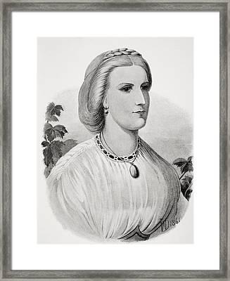 Lady Isabel Burton As A Bride Framed Print