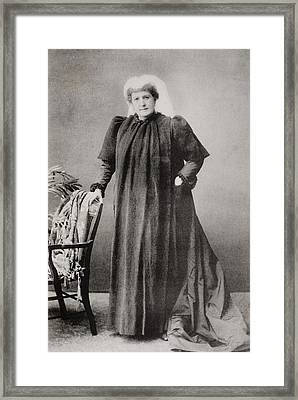 Lady Isabel Burton,1831-1896. Wife Of Framed Print