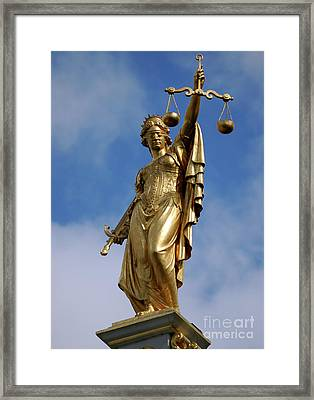 Framed Print featuring the photograph Lady Justice In Bruges by RicardMN Photography