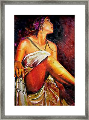 Lady Justice Mini Framed Print by Laura Pierre-Louis