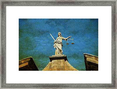 Lady Justice. Streets Of Dublin. Painting Collection Framed Print