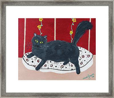 Lady Kitty Framed Print