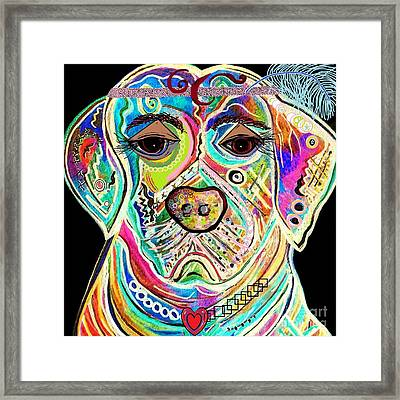 Lady Lab Framed Print by Eloise Schneider