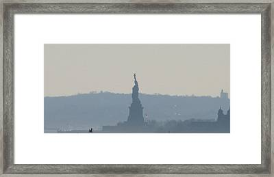 Lady Liberty A Framed Print by Hasani Blue