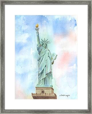 Lady Liberty Framed Print by Arline Wagner