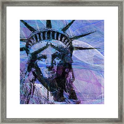 Lady Liberty Head 20150928 Square P180 Framed Print