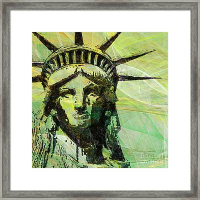 Lady Liberty Head 20150928 Square P28 Framed Print