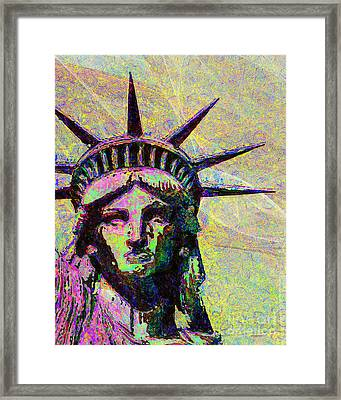 Lady Liberty Head 20150928dap2 Framed Print