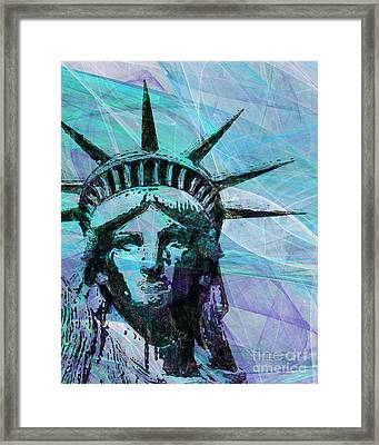Lady Liberty Head 20150928p150 Framed Print