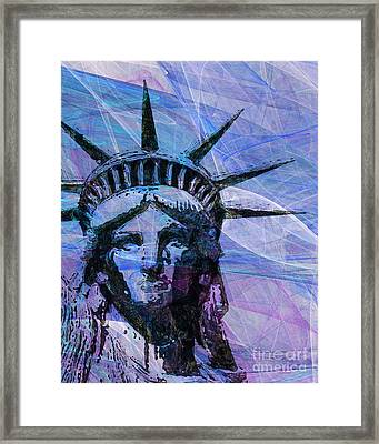 Lady Liberty Head 20150928p180 Framed Print