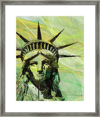 Lady Liberty Head 20150928p28 Framed Print