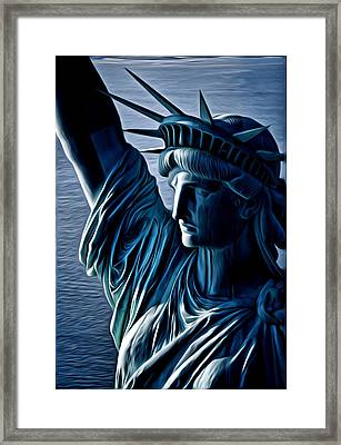 Lady Liberty Framed Print by Kevin  Sherf