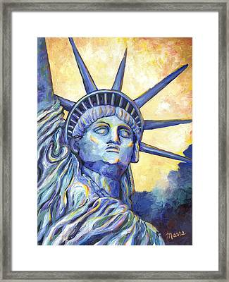 Lady Liberty Framed Print by Linda Mears