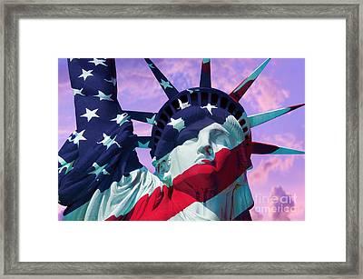 Lady Liberty Patriot Framed Print by Jon Neidert