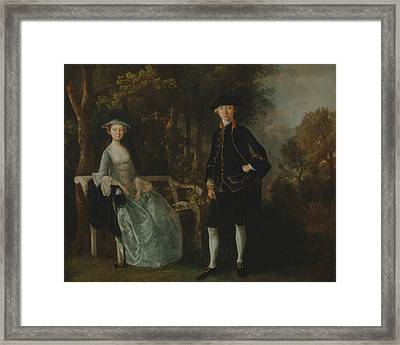 Lady Lloyd And Her Son Framed Print
