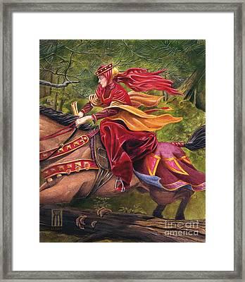 Lady Lunete Framed Print