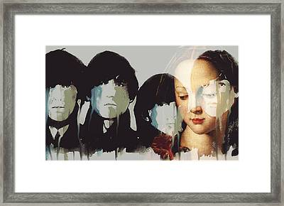 Framed Print featuring the mixed media Lady Madonna Children At My Feet  by Paul Lovering