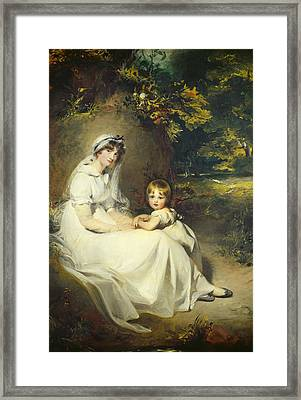 Lady Mary Templetown And Her Son Framed Print by Sir Thomas Lawrence