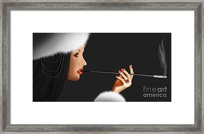 Lady Ninotschka Framed Print by Monika Juengling